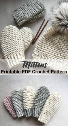 Cozy Mittens Crochet Patterns – Great Cozy Gift - A More Crafty Life #crochet #crochetpattern #diy