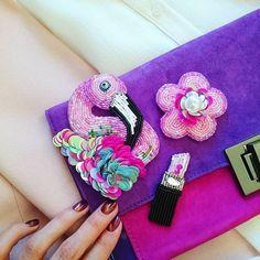 "109 Likes, 12 Comments - Екатерина Design & Beading (@missis_march) on Instagram: ""Самый-самый девчачий сэт! #бисер #брошь #брошьизбисера #хендмейд #вышивка #нашивка #handmade…"""