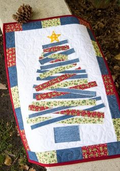 Blue Jean Christmas Tree Wall Hanging   Craftsy