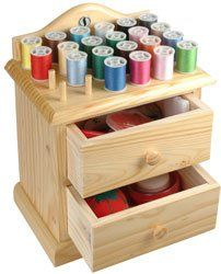 Smartek RX-24W Wooden Sewing Chest With Accessories