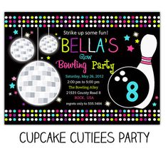 Free Printable Kids Bowling Party Invitations Download Get This