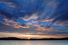 Adirondack sunset over Tupper Lake