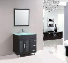 "Annabelle 40 Inch Modern Bathroom Vanity Espresso Finish destiny 60"" double sink bathroom vanity white - royal bath place"