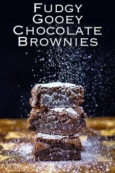 Fudgy Homemade Chocolate Brownies | The BEST chocolate brownies in the world! These brownies have chewy edges and a fudgy centre. Serve with a cup of tea or a dollop of whipped cream, these brownies are perfect for any occasion. Especially birthdays.  Recipe by Sprinkles and Sprouts | Delicious Food for Easy Entertaining
