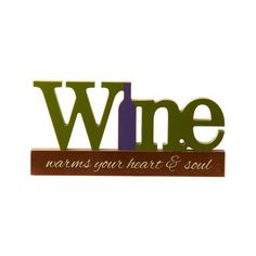 This amazing wooden sign is a cut out style sign that says Wine Warms Your Heart and Soul. This stately sign is thick enough to stand on its own on a shelf or table top, or can be hung on the wall. Fits perfectly with all your wine home decor. Wine Decor, Finding A House, Wine Gifts, Your Heart, Wooden Signs, Warm, Sayings, Gift Ideas, Wooden Plaques