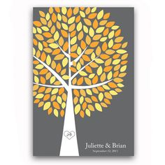 Wedding Guest Book Tree Fall Wedding Guest Book Alternative for 150 Guests Wedding Guestbook Poster