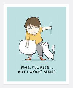 Fine I'll Rise Print A4 | Lingvistov