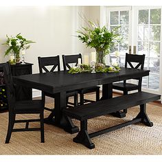 Black Verona 6-Piece Dining Set - for the breakfast room