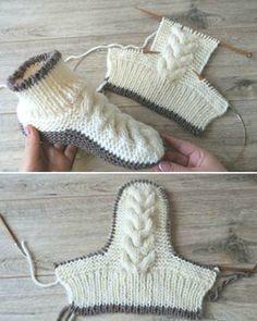 knitting pattern queen knitting patterns pdf knitting patterns for ladies aran cardigans Chunky Knitting Patterns, Knit Patterns, Free Knitting, Knit Slippers Free Pattern, Knitted Slippers, Crochet Shoes, Knit Crochet, Ursula, Crochet Slippers
