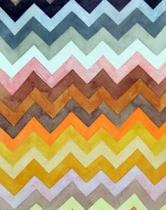 pretty chevron painting.