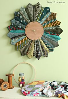 Necktie Sunburst Clock also checkout http://www.thediyshow.com for more inspirations