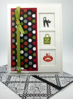 """I did a little digging in my Stampin' Pretty Gallery and came up with some favorite Halloween Cards from the """"crypt!""""  Enjoy. Mary Fish"""