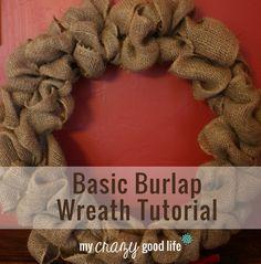 Descriptive Burlap Wreath Tutorial :: My Crazy Good Life