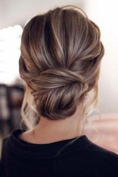 classic updo wedding hairstyles diy wedding hair styles 15 Stunning Low Bun Updo Wedding Hairstyles from Tonyastylist Homecoming Hairstyles, Wedding Hairstyles For Long Hair, Wedding Hair And Makeup, Easy Hairstyles, Hairstyle Ideas, Classic Hairstyles, Trending Hairstyles, Updo Hairstyles For Prom, Hairstyles 2018