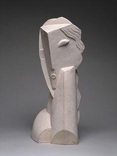 Colección en línea | Henri Laurens. Cabeza de una chica joven (Tête de jeune fillette). 1920, fundido 1959 - Museo Guggenheim