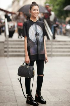 "8a3c821f3fe modelsdot  "" On the Street   Couture Fall 13 - Of The Minute   Liu Wen """