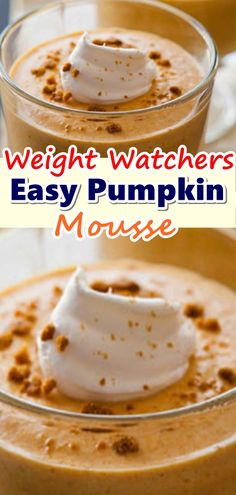Try this Weight Watchers Pumpkin Mousse recipe at This Mama Cooks! Easy Pumpkin Mousse – 4 Smartpoints Recipe For Pumpkin Mousse, . Weight Watcher Desserts, Weight Watchers Snacks, Weight Watchers Pumpkin Pudding Recipe, Pumpkin Mousse Recipe Easy, Pumpkin Recipes, Easy Pumpkin Desserts, Custard Recipes, Ww Recipes, Skinny Recipes