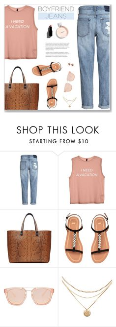 """Good Jeans"" by nastenkakot ❤ liked on Polyvore featuring Victoria Beckham, Garance Doré and Allurez"