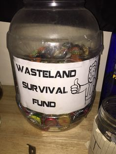 Post with 0 votes and 583 views. Went to a party last night . They were asking for donation to survive the approaching apocalypse. Fallout Props, Fallout Art, Fallout New Vegas, Fallout Theme, Xbox Party, Nerd Party, Video Game Party, Party Games, Video Games