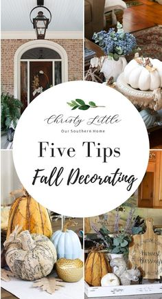 Five decorating tips for wall to create inviting and unique vignettes! #falltour #falldecorating#pumpkins #falldecor #fall