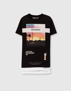 Pull&Bear - man - t-shirts - photographic t-shirt - black - 09239585-I2016
