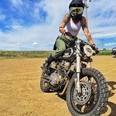 Habermann & Sons Classic Motorcycles and more: Photo Motocross, Harley Davidson, Lady Biker, Biker Girl, Image Moto, Chicks On Bikes, Ride Out, Cafe Racer Girl, Scrambler Motorcycle