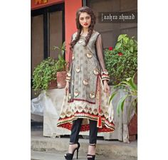 Pakistani Designer Dresses - Lowest Prices - Zahra Ahmad Double layer Semi formal dress - Dresses - Latest Pakistani Fashion