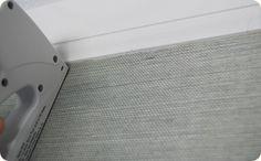 Applying grasscloth wallpaper
