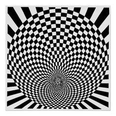 op art illusions | Op Art, optical illusion Poster
