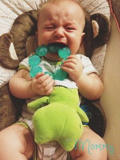 Is your baby teething? Mine, too. | www.hollythemommy.blogspot.com