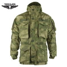 Teesar Smock Generation II is available now at Military 1st online store. This long military-style jacket comes with a plenty of useful pockets and pouches, large wired hood integrated with a high collar, underarm ventilation zippers, reinforced elbows, and adjustable waist and hem for a custom fit. Only £139.95. Free UK delivery and returns! Competitive overseas shipping rates.