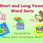 This pack includes 5 word sort activities.  Great for centers or in guided reading.  16 - 18 words are included for each vowel.  Students...