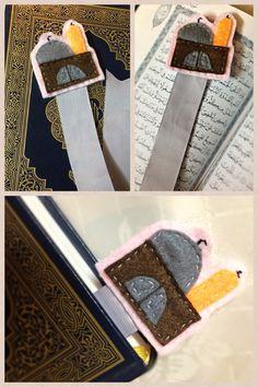 Mosque felt bookmark for Quran