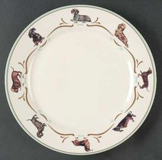 Danbury Mint Dachshund Dinnerware
