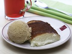 Kazandibi + ice cream from the best cafe in Istanbul:  Özsüt!