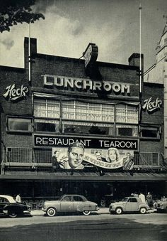 """1950. In the late 1930's Heck at the Rembrandtplein in Amsterdam was immense popular. The secret of success was that the food was relatively inexpensive and that clients could listen to live music all day long. It was also a popular dating place. Singer and trumpeter Nat Conella scored with his hit """"Oh Monah"""" at Heck and the band Malando Orchestra performed the world hit """"Olé Guapa"""" there many times. Heck closed in 1964. #amsterdam #1950 #rembrandtplein #heck"""