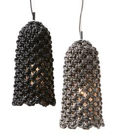 Macrame pendant light - three collections by Sarah Parkes - HomeWorldDesign (6)