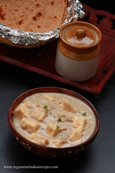 Paneer korma is a tasty classic paneer dish which is made with paneer or cottage cheese. It is very easy to make, whitish in color and is less spicy.