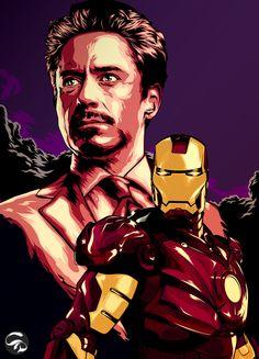 Tony Stark is IRONMAN by Christian Dalida, via Behance