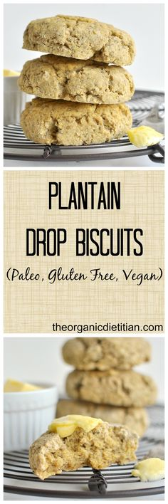 Easy Plantain Drop Biscuits, #vegan #paleo #glutenfree, make in minutes in a food processor