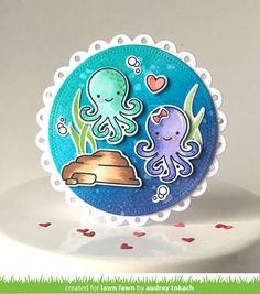 Lawn Fawn - OCTIPI MY HEART - Clear STAMPS This cute octopus is ready to lend a hand (or eight!) with your next craft project! This mini set is perfect for Vale