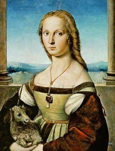 (Raphael) Raffaello Santi - Portrait of a Lady with a Unicorn
