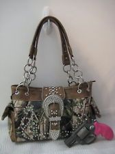 CONCEALED CARRY Camo Purse Montana West! Pistol Gun Weapon Handbag Western, I know someone who would love this purse! (Hint: Marie)