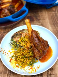 Persian Rice, Iran Food, Lamb Shanks, Eastern Cuisine, Vegetable Stew, Guacamole Recipe, Middle Eastern Recipes, Rice Dishes, Healthy Foods