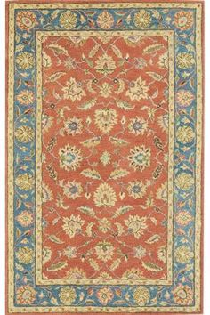 Old London Area Rug - Traditional Rugs - Wool Rugs - Rugs | HomeDecorators.com NOT THE BLUE TRIM! WRONG PIC. TAN & RUST & GREEN