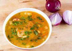 Reteta Ciorba de Fasole cu Ciolan Afumat Romanian Food, Soups And Stews, Thai Red Curry, Soup Recipes, Food And Drink, Cooking, Ethnic Recipes, Album, Gastronomia