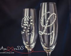 Subscribe to our Facebook and we will send you a coupon for 5% https://www.facebook.com/DiAmoreDS/ These unusual wedding toasting glasses with silver decor are perfect for the Navy wedding , marine glamor, luxury wedding, lace wedding. Exclusive products from DiAmoreDS are perfect for your special day, or as a unique gift for an anniversary or newlyweds. You can use the designer decor for parties on the occasion of birthday, baby shower, and other celebrations ❤ Buy th...