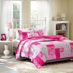Abbey Coverlet Set, Pink - Twin