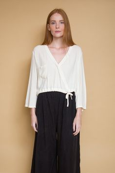 Crossover Blouse / Natural