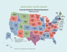 Map shows Plan and Household Discount Availability for Medicare Supplement plans.